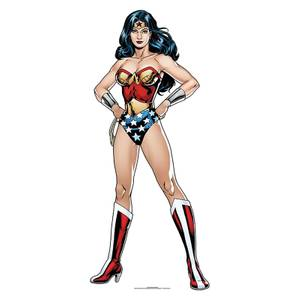 DC - Wonder Woman Mini Cardboard Cut Out