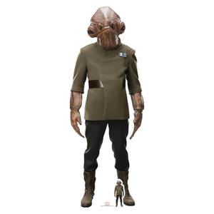 Star Wars: The Last Jedi - Admiral Ackbar Lifesize Cardboard Cut Out