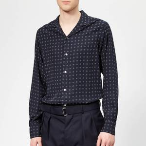 Officine Générale Men's Dario 10 Dots Shirt - Navy/White