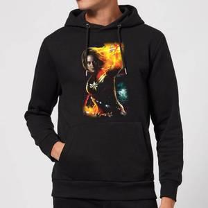 Captain Marvel Galactic Shine Hoodie - Black