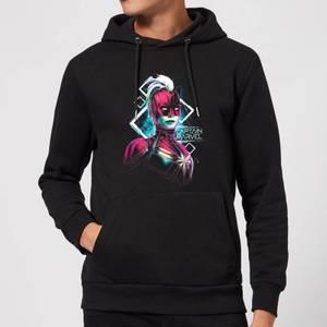 Captain Marvel Neon Warrior Hoodie - Black