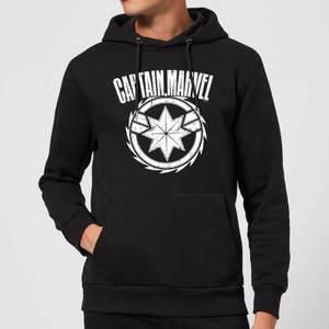 Captain Marvel Logo Hoodie - Black