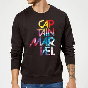 Captain Marvel Galactic Text trui - Zwart
