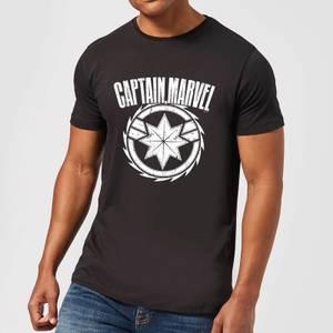 Captain Marvel Logo Men's T-Shirt - Black