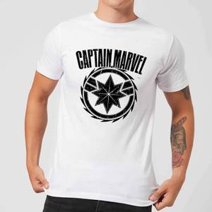 Captain Marvel Logo Men's T-Shirt - White