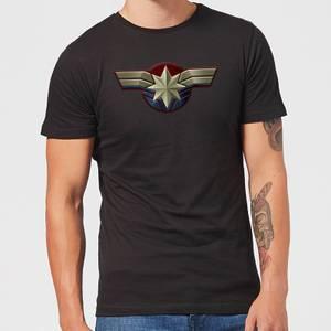 T-Shirt Captain Marvel Chest Emblem - Nero - Uomo