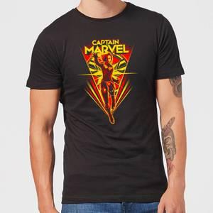T-Shirt Captain Marvel Freefall - Nero - Uomo