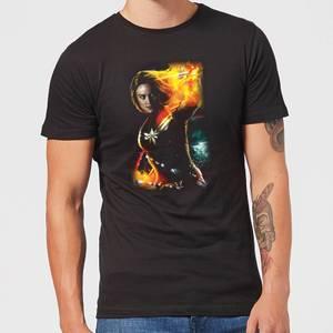 T-Shirt Captain Marvel Galactic Shine - Nero - Uomo