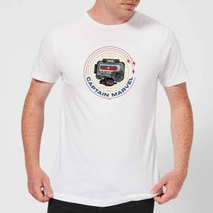 T-Shirt Captain Marvel Pager - Bianco - Uomo