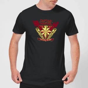 Captain Marvel Protector Of The Skies Men's T-Shirt - Black