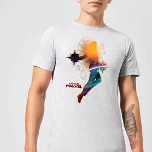 Captain Marvel Nebula Flight Men's T-Shirt - Grey