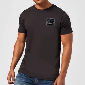 Captain Marvel Name Badge Men's T-Shirt - Black