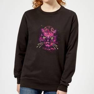 Captain Marvel Neon Goose Women's Sweatshirt - Black