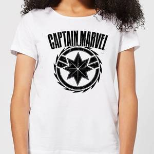 Captain Marvel Logo Women's T-Shirt - White