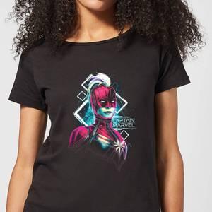 Captain Marvel Neon Warrior Women's T-Shirt - Black