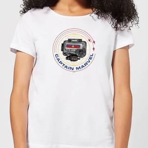 T-Shirt Captain Marvel Pager - Bianco - Donna