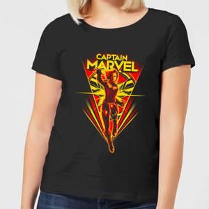 Captain Marvel Freefall Women's T-Shirt - Black