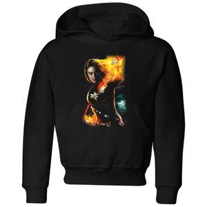 Captain Marvel Galactic Shine Kids' Hoodie - Black