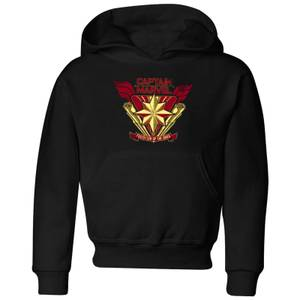 Captain Marvel Protector Of The Skies Kids' Hoodie - Black