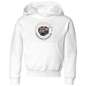 Captain Marvel Pager Kids' Hoodie - White