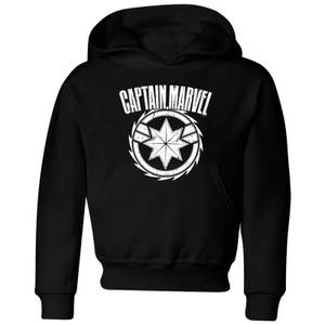 Captain Marvel Logo Kids' Hoodie - Black