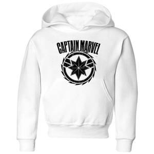 Captain Marvel Logo Kids' Hoodie - White