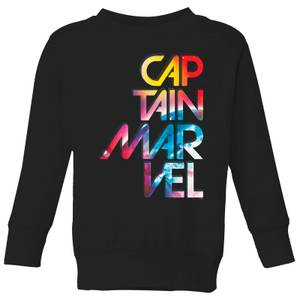 Captain Marvel Galactic Text Kids' Sweatshirt - Black