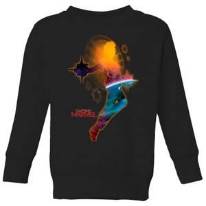 Captain Marvel Nebula Flight Kids' Sweatshirt - Black