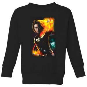 Captain Marvel Galactic Shine Kids' Sweatshirt - Black