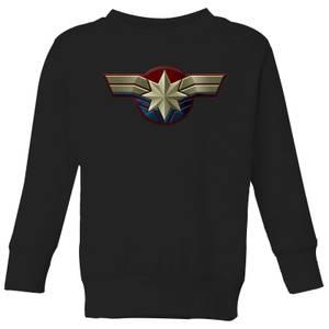 Captain Marvel Chest Emblem Kids' Sweatshirt - Black