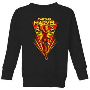 Captain Marvel Freefall Kids' Sweatshirt - Black