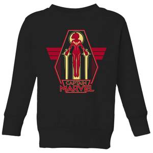 Captain Marvel Flying Warrior Kids' Sweatshirt - Black