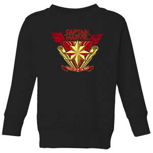 Captain Marvel Protector Of The Skies Kids' Sweatshirt - Black