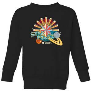Captain Marvel Star Power Kids' Sweatshirt - Black