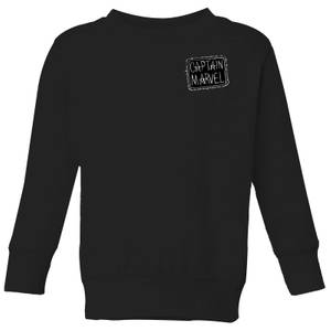 Captain Marvel Name Badge Kids' Sweatshirt - Black
