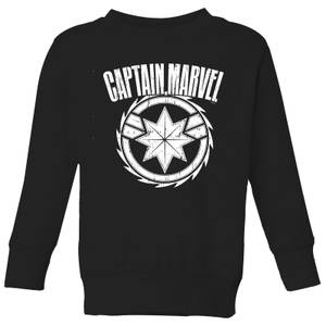 Captain Marvel Logo Kids' Sweatshirt - Black