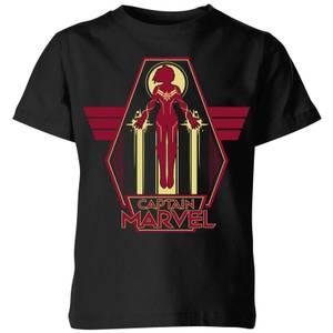 Captain Marvel Flying Warrior Kids' T-Shirt - Black
