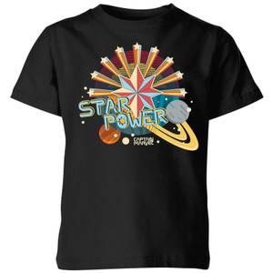Captain Marvel Star Power Kids' T-Shirt - Black