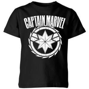 Captain Marvel Logo Kids' T-Shirt - Black