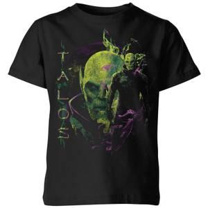 Captain Marvel Talos Kids' T-Shirt - Black