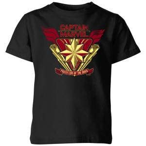 Captain Marvel Protector Of The Skies Kids' T-Shirt - Black