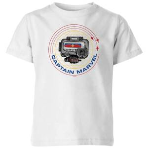 T-Shirt Captain Marvel Pager - Bianco - Bambini