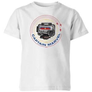 Captain Marvel Pager Kids' T-Shirt - White