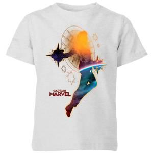 Captain Marvel Nebula Flight kinder t-shirt - Grijs