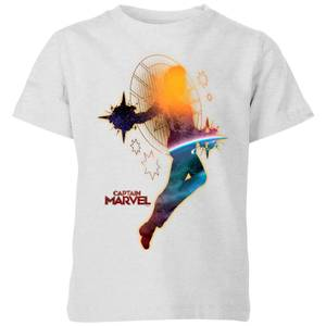Captain Marvel Nebula Flight Kids' T-Shirt - Grey
