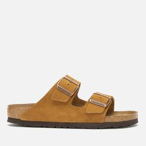 Birkenstock Women's Arizona Sfb Suede Double Strap Sandals - Mink