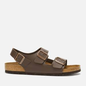 Birkenstock Men's Milano Double Strap Sandals - Dark Brown