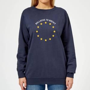 B*llocks To Brexit Women's Sweatshirt - Navy