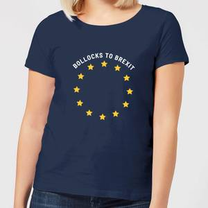 B*llocks To Brexit Women's T-Shirt - Navy