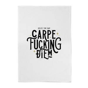 Carpe F*cking Diem Cotton Tea Towel